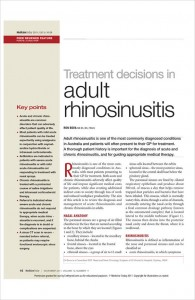 Medicine-Today-Adult-Rhinosinusitis-Ron-Bova